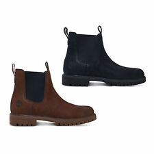 Timberland 6 Inch Premium Leather Black Brown Mens Chelsea Ankle Boots Size 8-11