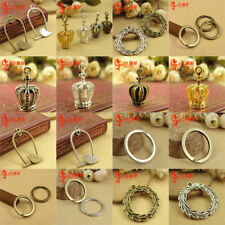 Wholesale 10pcs Alloy Chain Key Rings Great for Craft Parts Charms DIY Decor