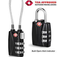 New TSA 3 Digit Combination Luggage Suitcase Security Travel Cable Lock Padlock