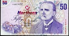 Northern bank LTD Belfast £50 fifty Pound banknote 2005 replacement YY note UNC
