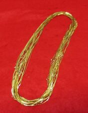 WHOLESALE LOTS OF 5- 144 14KT GOLD EP 18 INCH 1MM COBRA NECKLACES
