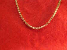 STAINLESS STEEL GOLD 4MM SMOOTH BOX CHAIN NECKLACE-GOLD