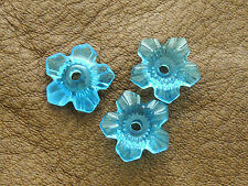 12mm 100/200pcs CLEAR PEACOCK ACRYLIC PLASTIC FLOWER LOOSE BEADS CM4477