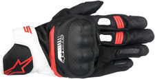 Mens Alpinestars Pair Black Red White SP5 Motorcycle Riding Street Racing Gloves