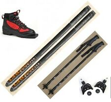 NEW CROSS TOUR JR XC cross country 75mm SKIS/BINDINGS/BOOTS/POLES PACKAGE -117cm