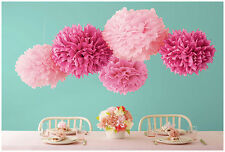 "15 Pcs 14"" Tissue Paper Pom Poms Flowers Balls Wedding Party Decoration Supplies"