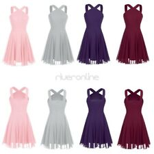 Womens Ladies Dress Chiffon Evening Prom Ball Gown Dress Bridesmaid Party New