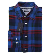 Tommy Hilfiger Men's Long Sleeve Button-Down Plaid Casual Shirt -$0 Free Ship