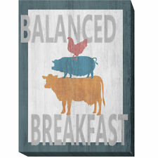August Grove 'Balanced Breakfast One' Oil Painting Print on Wrapped Canvas