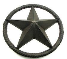 "SAVE ON 2 Rope Star Cast Iron 10-1/4"" Cowboy Cowgirl Western Wall Barn Star"