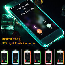 LED Flash Light UP Remind Incoming Call Cover Case Skin For Apple iPhone 5S 6S 7