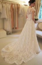 New White Ivory Mermaid Wedding Dress Bridal Gown Stock Size 4 6 8 10 12 14 16