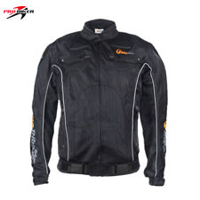 Reflective Motorcycle Spring Racing Jacket Mesh Riding Coat Removable Protectors