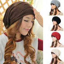 Fashion Ladies Baggy Hat Winter Warm Beanie Knit Crochet Ski Slouch Cap Hip-Hop