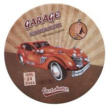 Vintage Style Iron Metal Round Shaped Retro Tin Sign Home Cafe Wall Decor Plaque