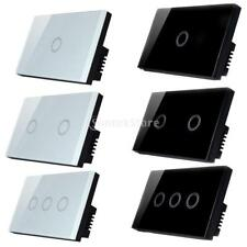 1 Way 1/2/3 Gang Smart Wall Touch Panel Switch Light Lamp Wall Switch, Wht & Blk