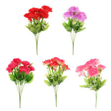 Artificial Silk Carnation Flower Bouquet Party Wedding Home Decor 5 Colors