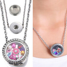 Floating Charm Locket Snap-It Chunk Button For Snap Necklace Chain Jewelry gift