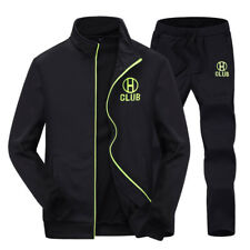 2017 Sports Mens Casual Tracksuit Zip Up Athletic Apparel Sweats Jackets + Pants