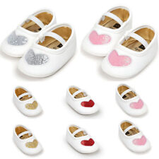 Kid Baby Girls Heart Ankle Strap Sandals Princess Flat Soft Sole Prewalker Shoes