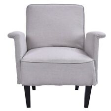 Vintage Upholstered Accent Arm Chair Soft Single Sofa Bedroom Room Furniture US