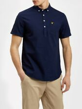 Lyle And Scott Mens Shirt SW702V Garment Dye Oxford Over the Head   Navy