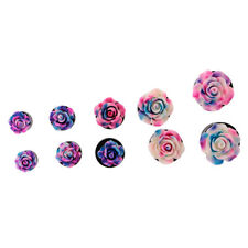 """Pair Rose Flower Ear Expander Tunnel Body Piercing Jewelry 8mm-16mm/0g-5/8"""""""