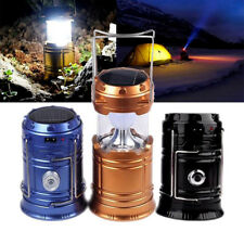 Collapsible Solar Rechargeable Outdoor Camping Lantern Light LED Hand Lamp Light