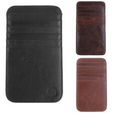 Brown 12-slot Slim Wallet Thin Credit Card Holder ID Case Purse Bag Pouch