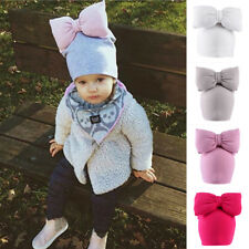 Newborn Baby Toddler Kids Soft Warm Bow Hat Bohe Style Photo Props Caps