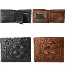 Mens PU Leather Money Clip Wallets Black ID Credit Card Holder