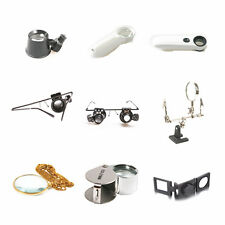 Magnifying Eye Magnifier Glasses Loupe Lens Jeweler Watch Repair LED Light