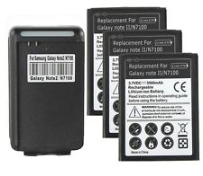3500mAh Battery + Dock Charger for Samsung Galaxy Note 2 II N7100 i605 T889 L900