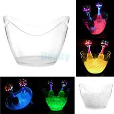 Various LED Light Ice Cooler Bucket USB Champagne Beer Wine Drinks Box 6 Colors