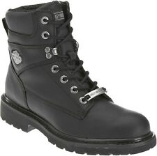 Harley-Davidson® Men's Austwell Black Leather Motorcycle Riding Boots D94194