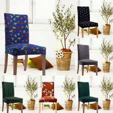 Removable Stretch Slipcovers Dining Room Spandex Chair Seat Cover 6 Colors