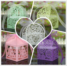 20Pieces Gift Candy Sweet Boxes Cut Out Bird Heart Bridal Wedding Favors