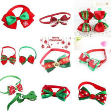 9 Styles Christmas Dog Cat Pet Puppy Bowknot Necktie Collar Bow Tie Clothes U