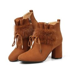 Solid Women Short Boots Fashion Hot Pointy Toe Warm Shoes Suede Casual Shoes New