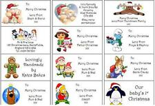 24 Personalised Christmas Stickers/Labels Handmade By / Address / Wrapping/Party