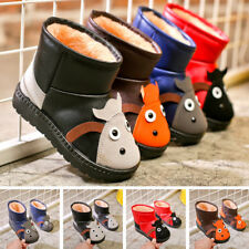 Winter Warm Baby Boy Girl Snow Boots Slip-on Soft Sole Toddler Walking Shoes New