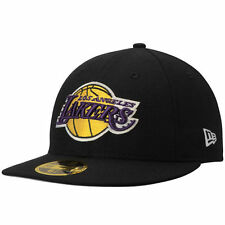 LOS ANGELES LAKERS OFFICIAL NBA NEW ERA 59FIFTY HARDWOOD CLASSICS FITTED HAT BLK