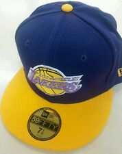 LOS ANGELES LAKERS OFFICIAL NBA NEW ERA 59FIFTY HARDWOOD CLASSICS FITTED HAT CAP