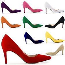 Women Pointed Toe Suede Stiletto High Heel Shoes Wedding Party Court Pumps Shoes