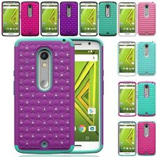 Motorola Droid Maxx 2 / Moto X Play Hybrid Hard Diamond Case Skin Phone Cover