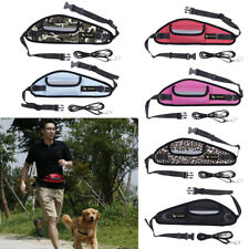 Pet Dog Puppy Hands Free Leash Training Walking Leash Lead with Waist Treat Bag