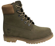 Timberland AF Premium 6 Inch Lace Up Dark Green Womens Boots A18N8 T1