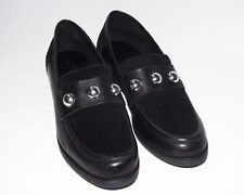 Urban Outfitters Studded Penny Loafer, Suede & Leather Upper, Black, 10, New