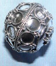 1 Bali Sterling Silver Ornate Granulated Bead 16.mm #P1197