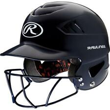 RAWLINGS ADULT COOLFLO MOLDED BASEBALL BATTING HELMET w/ FACE GUARD